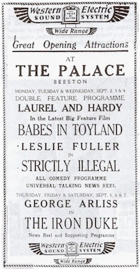 Palace advert