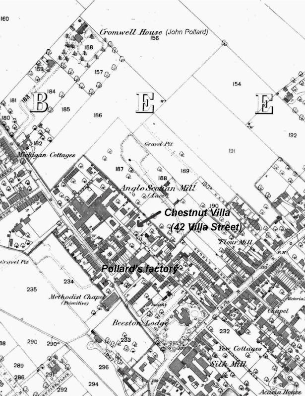 Map of Beeston in the Early 1800s