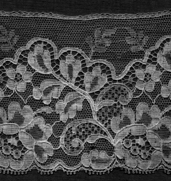 Typical 1940-50s lace